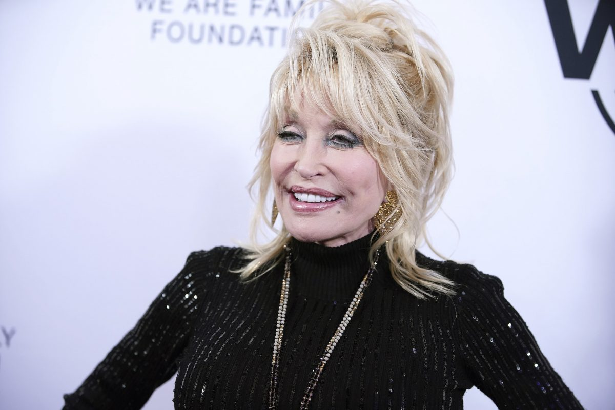 Dolly Parton attending the We Are Family Foundation honors ceremony in 2019