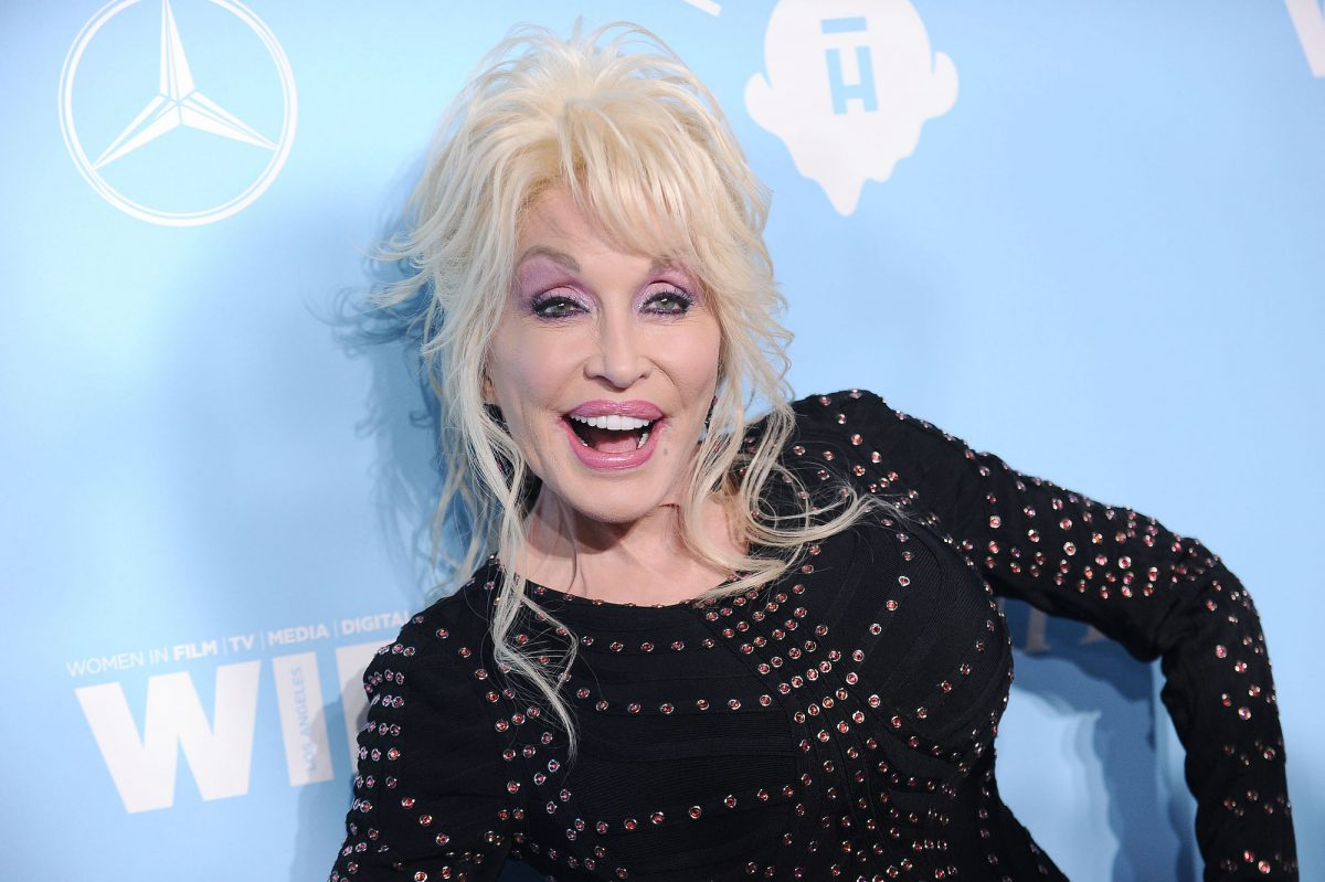 Dolly Parton attending Variety and Women In Film's 2017 pre-Emmy celebration
