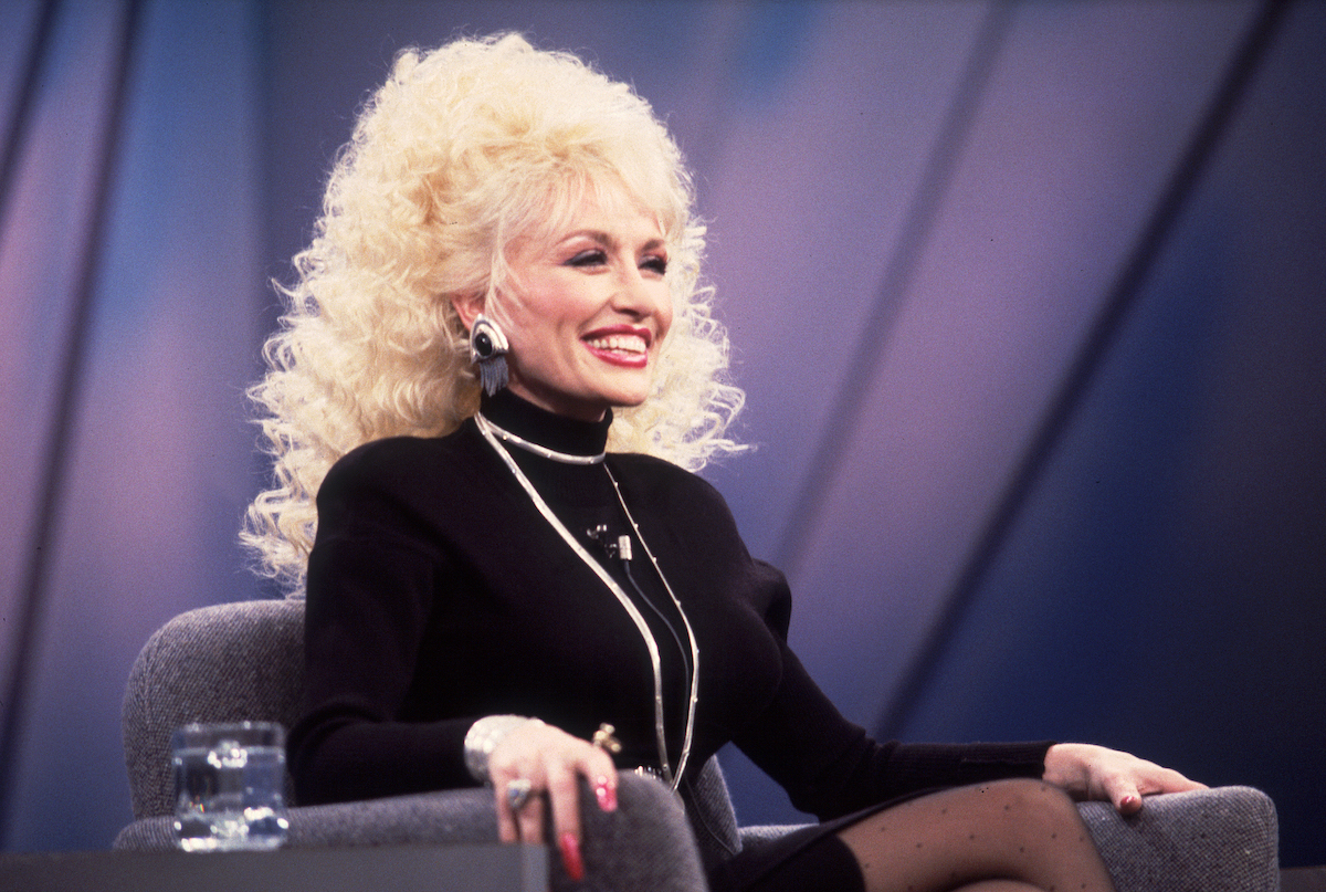 Dolly Parton appearing on an episode of The Oprah Winfrey Show in 1987