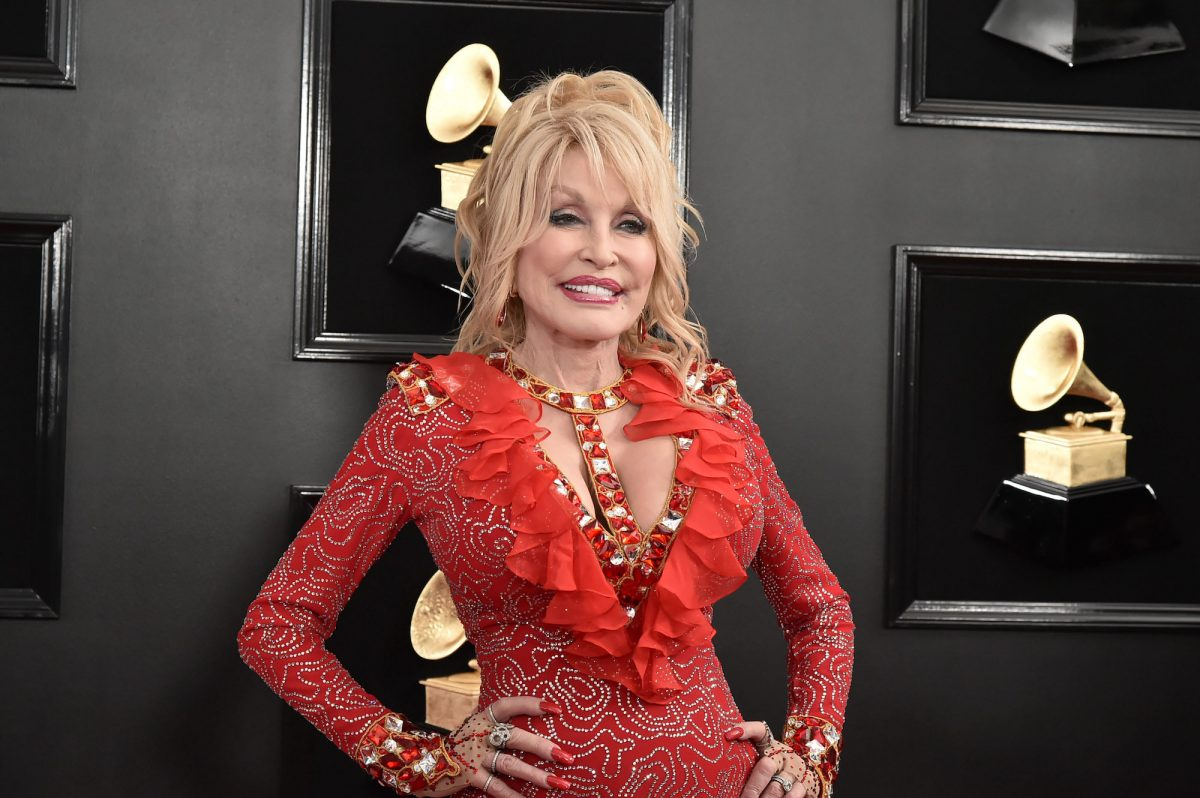 Dolly Parton attending the 61st Annual Grammy Awards in 2019