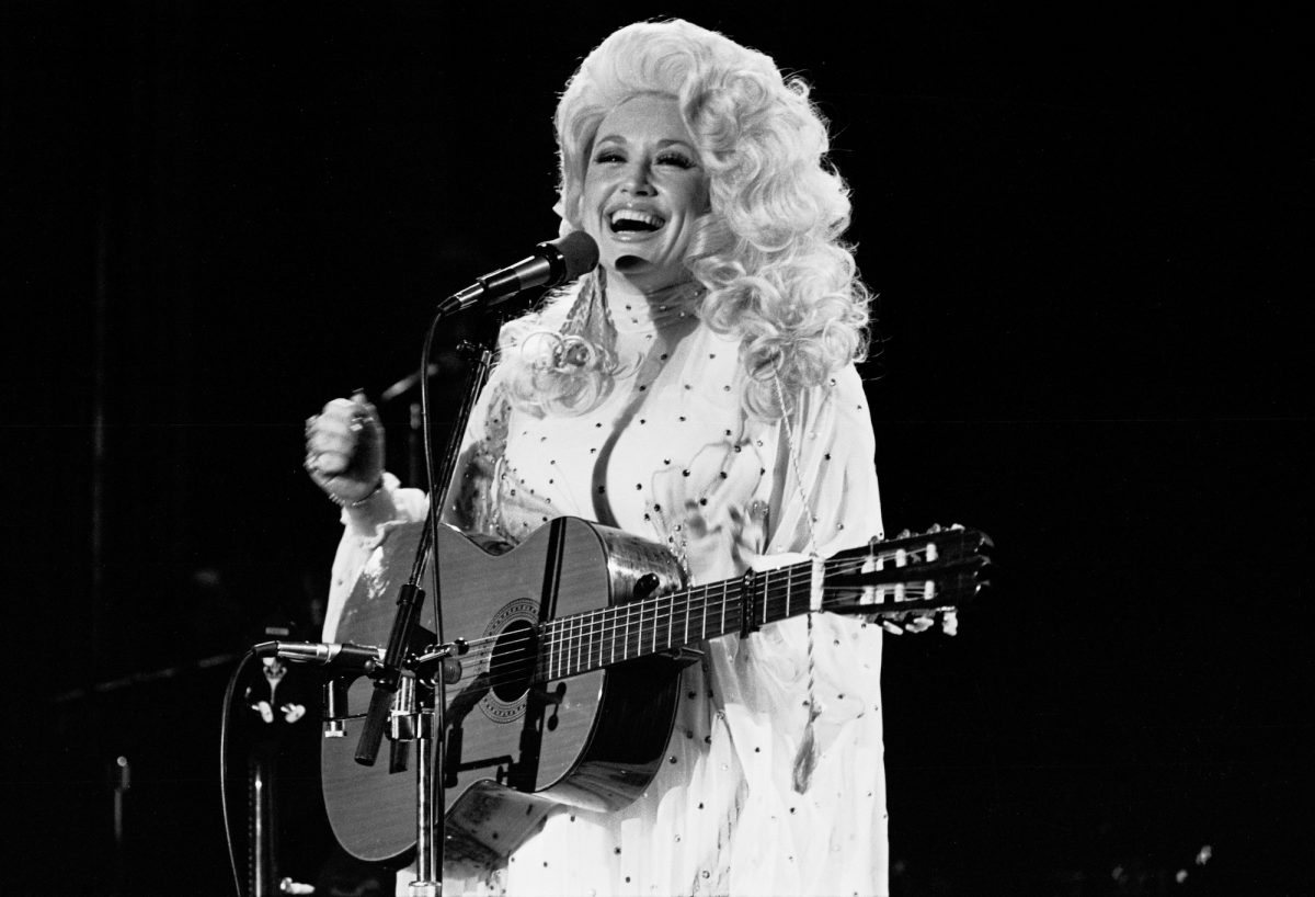 Dolly Parton performing onstage in NYC in 1978