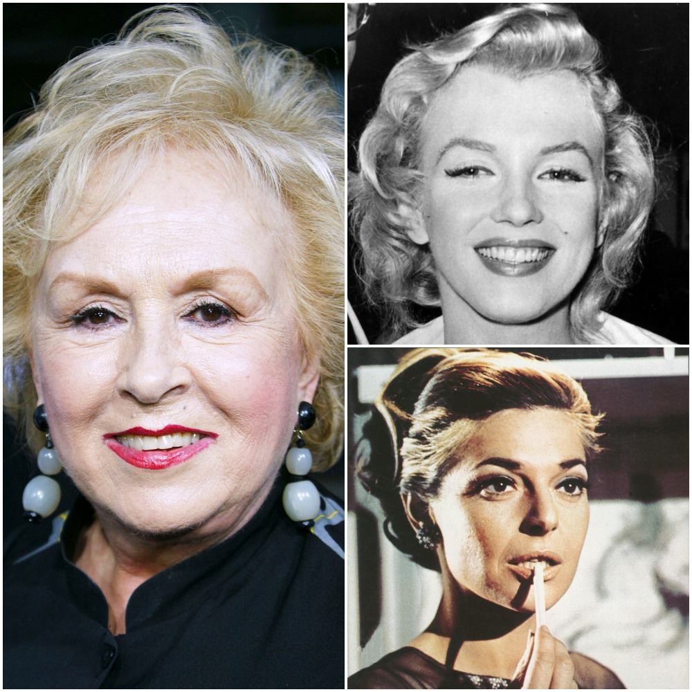 (Left to right): Actors Doris Roberts, Marilyn Monroe, and Anne Bancroft
