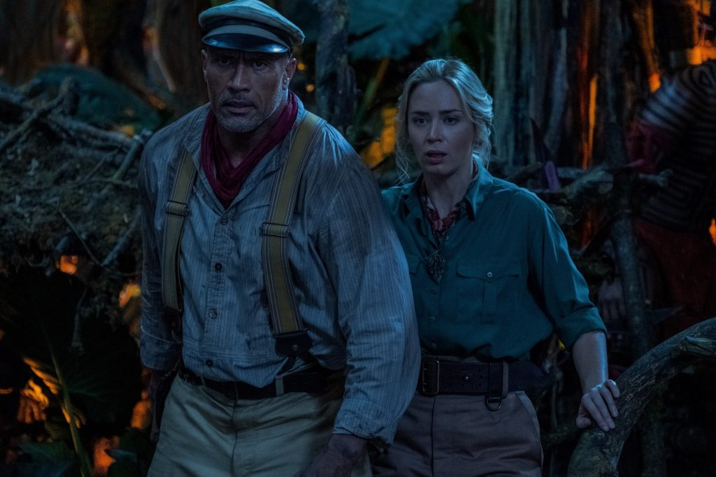 Dwayne Johnson and Emily Blunt explore the jungle