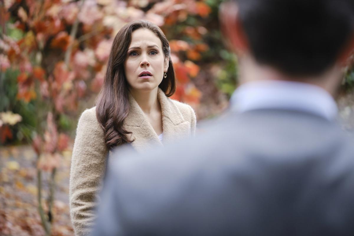 Elizabeth looking stunned in the 'When Calls the Heart' Season 8 finale