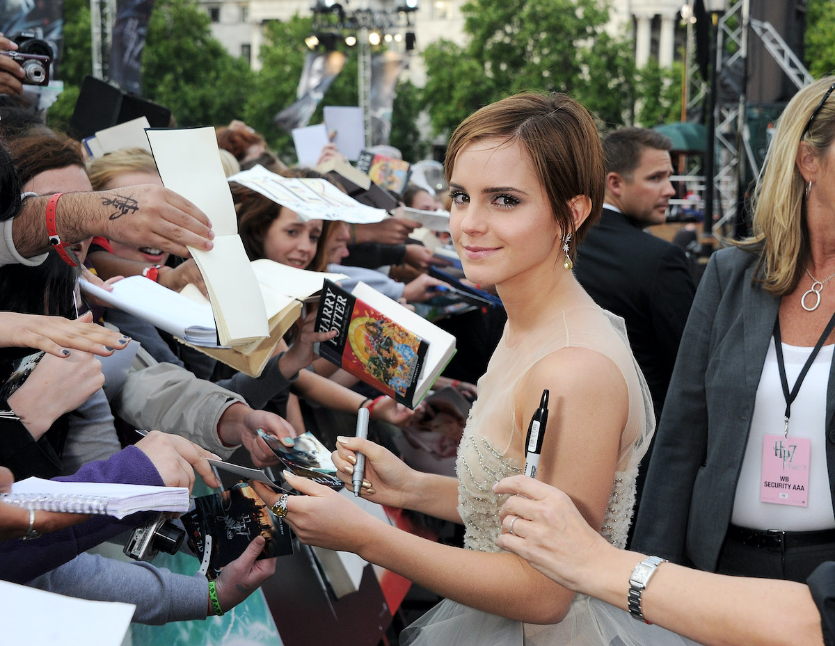 Emma Watson signs autographs for Harry Potter fans