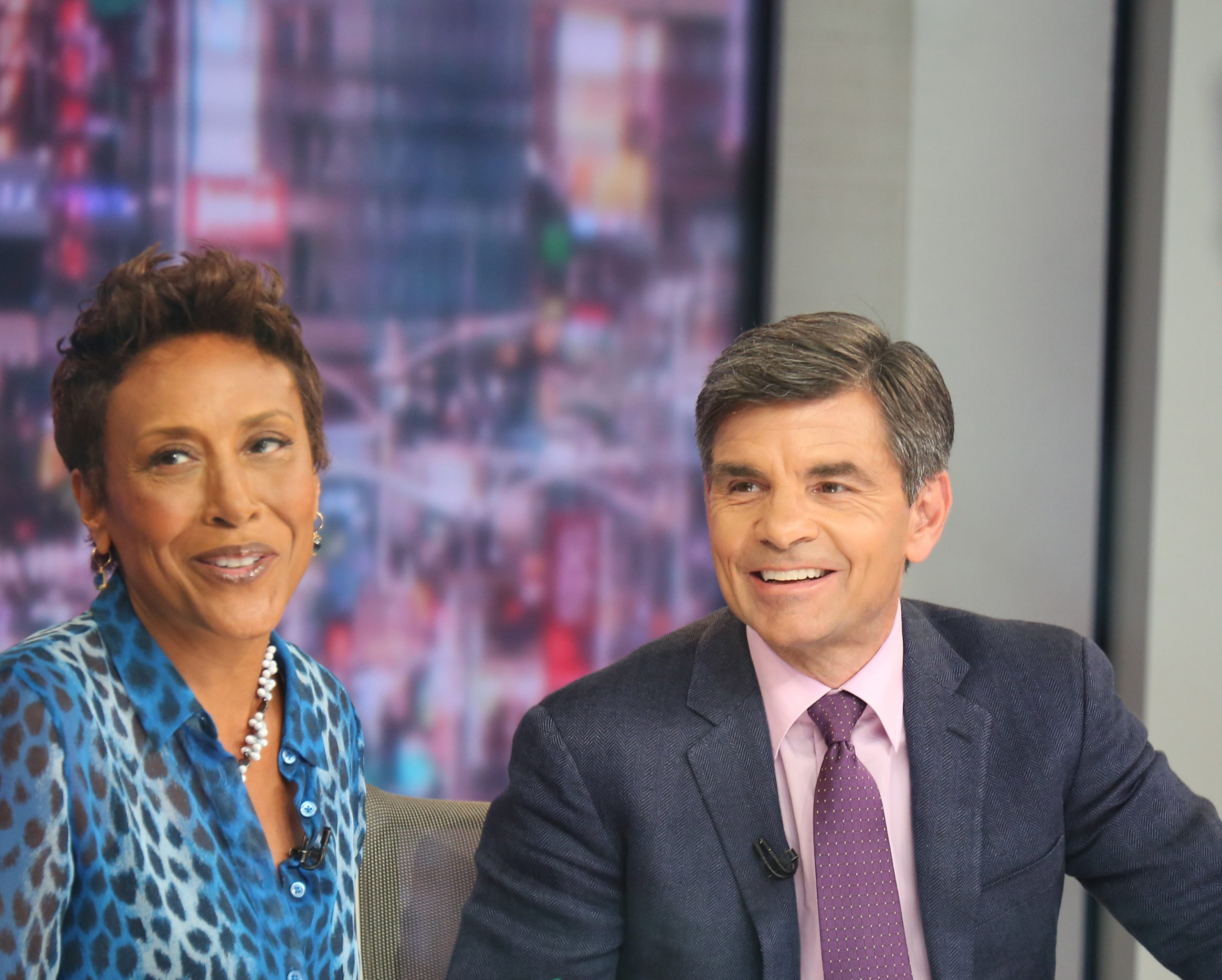 Coanchors Robin Roberts and George Stephanopoulos of 'Good Morning America'