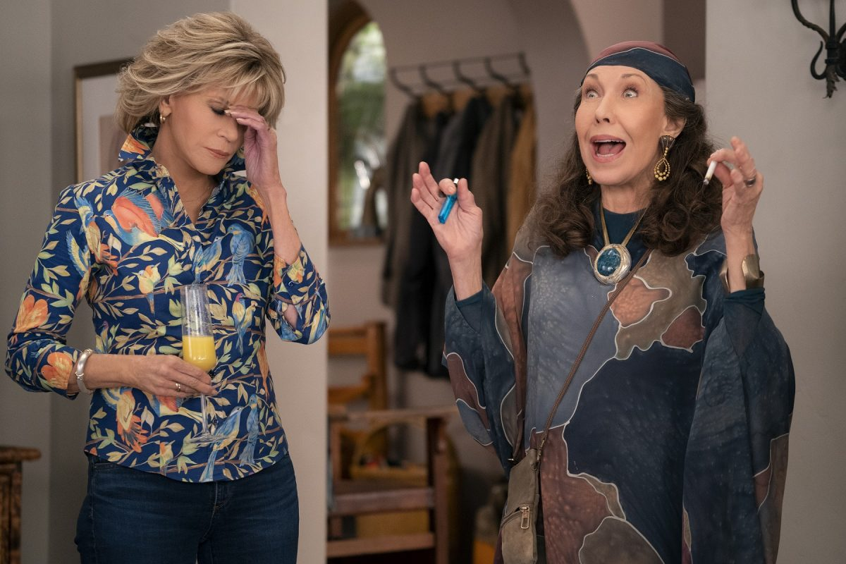 Jane Fonda as Grace and Lily Tomlin as Frankie in season 6 in 'Grace and Frankie'