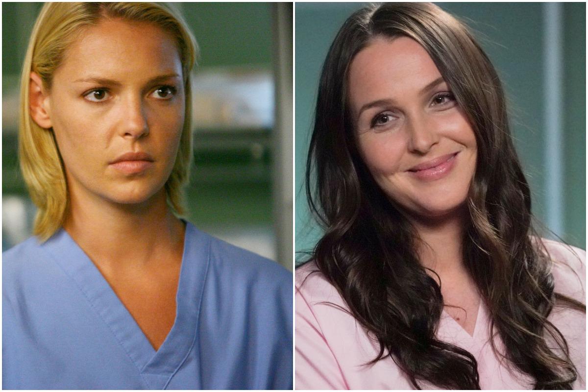 'Grey's Anatomy': A side-by-side photo of Katherine Heigl as Izzie Stevens and Camilla Luddington as Jo Wilson.