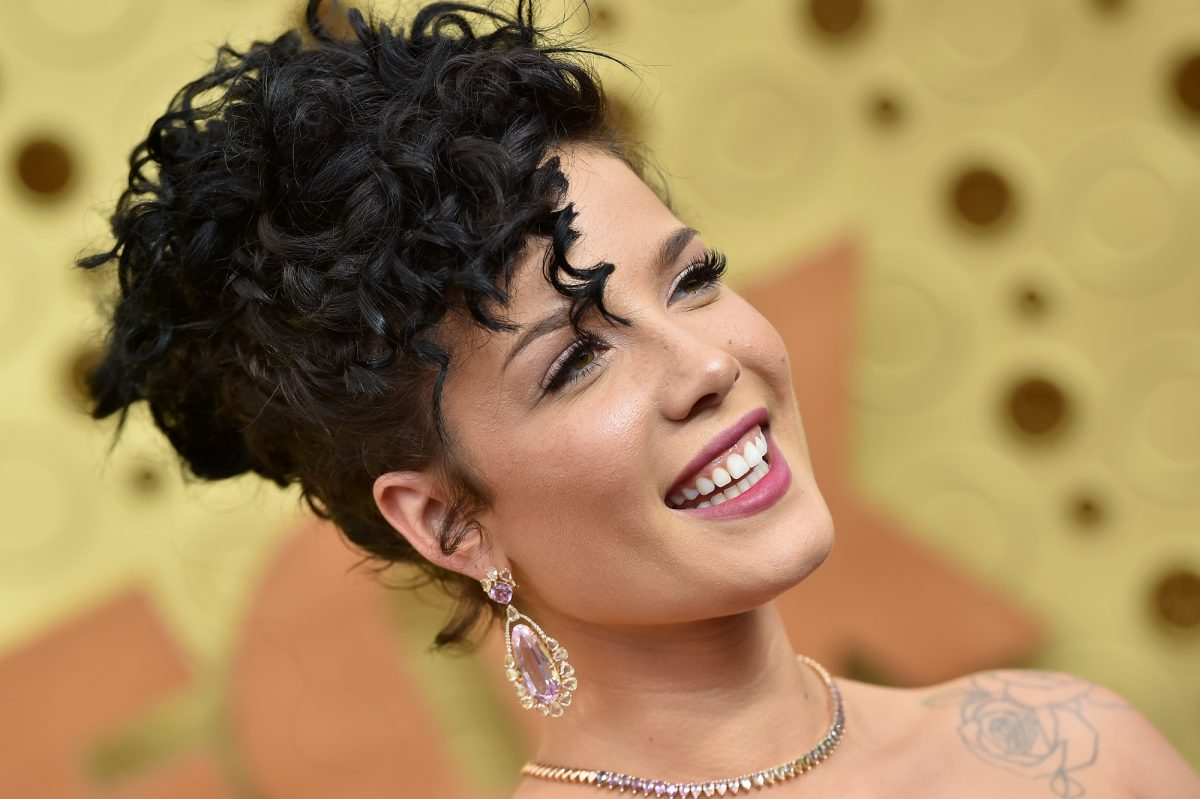 Halsey smiles while attending the 71st Emmy Awards in 2019