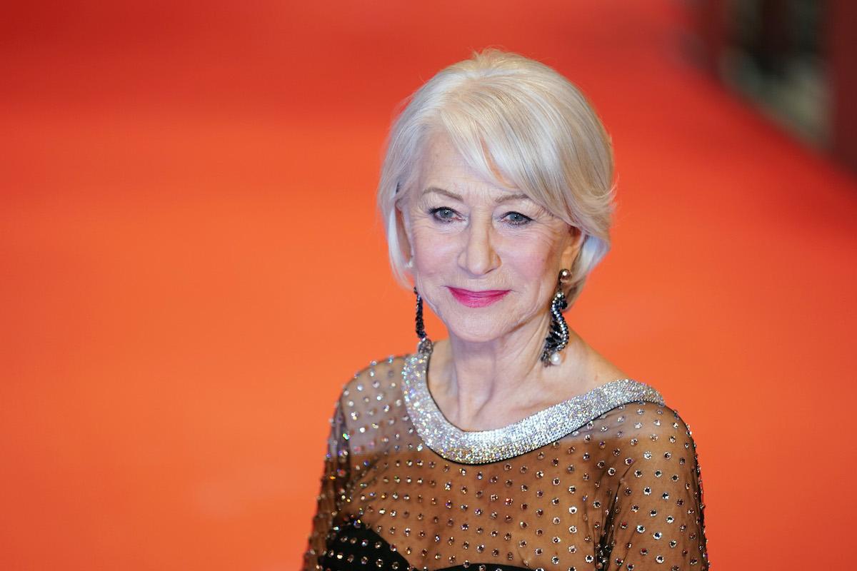 Helen Mirren on the red carpet