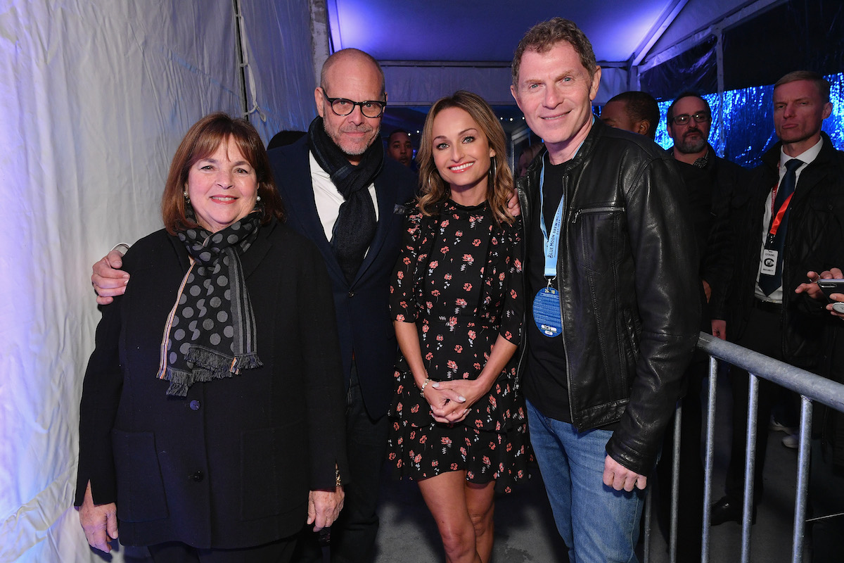 Ina Garten, Alton Brown, Giada De Laurentiis, and Bobby Flay pose together the 2018 Food Network and Cooking Channel New York City Wine and Food Festival