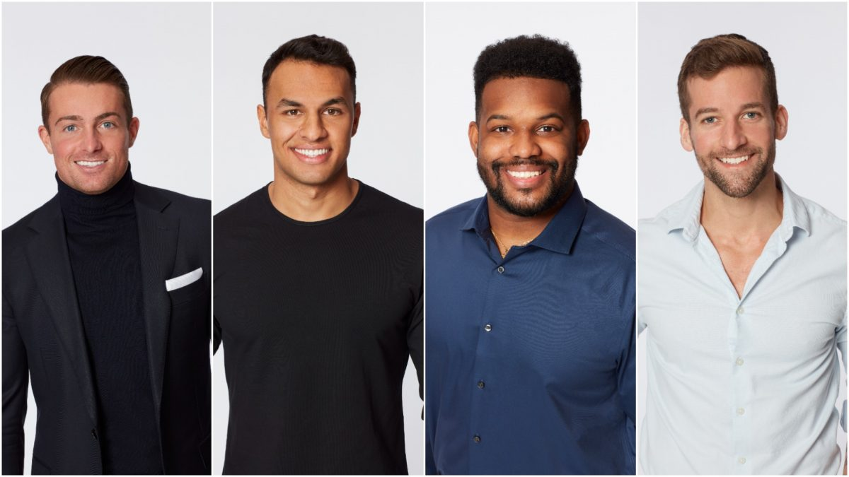 Headshots of James Bonsall, Aaron Clancy, Tre Cooper, and Connor Brennan from 'The Bachelorette' and 'Bachelor in Paradise' in 2021