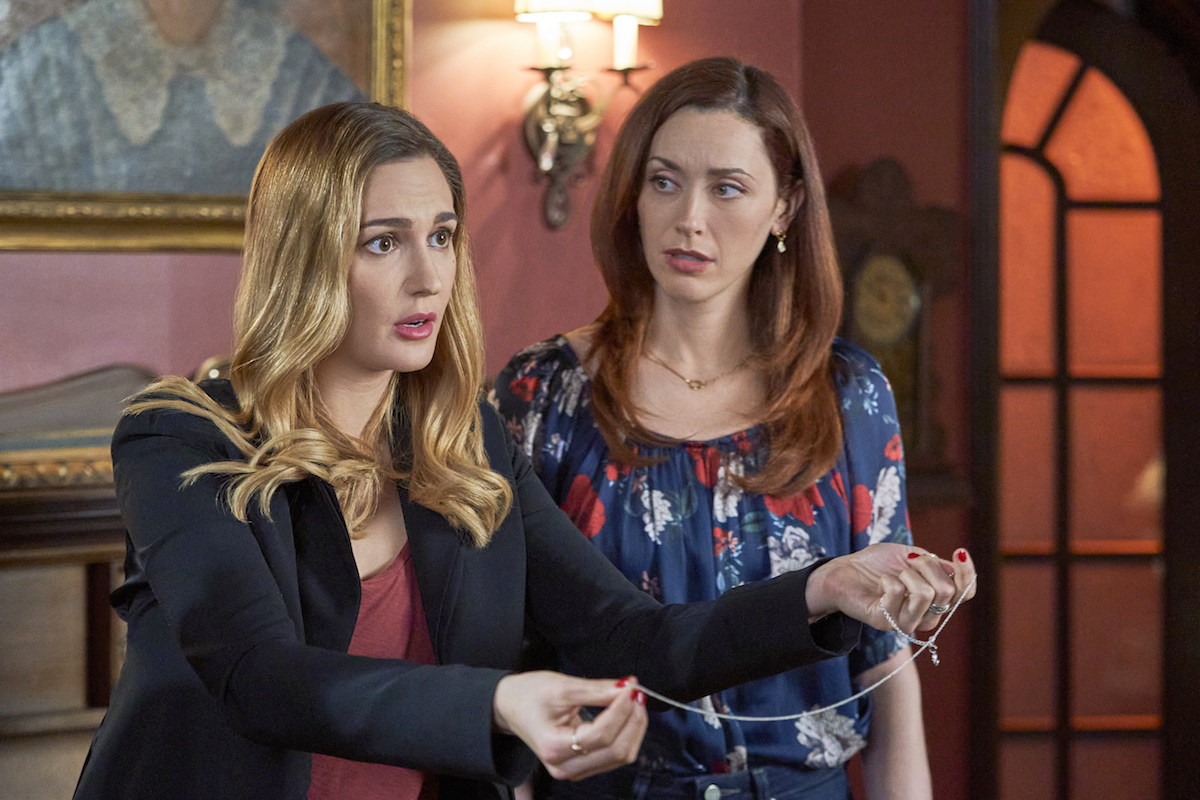 Joy, holding a necklace, and Abigail in the 'Good Witch' series finale