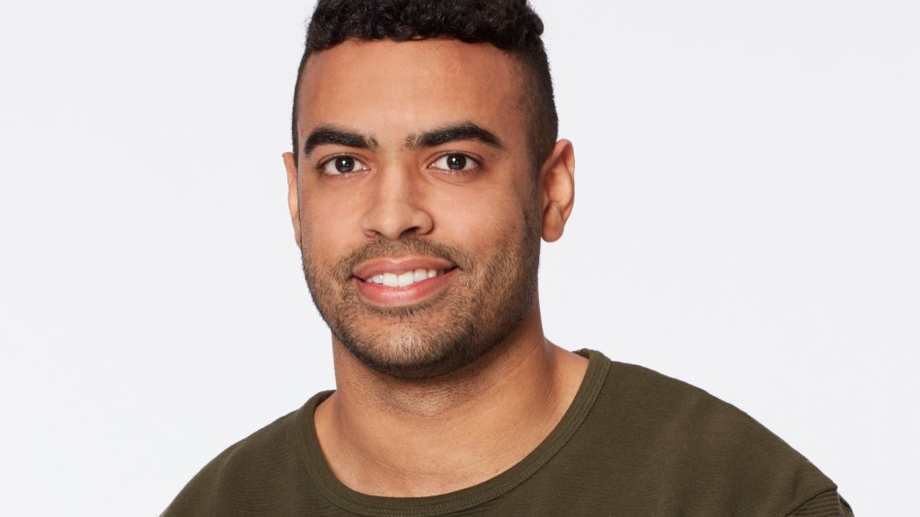 A headshot of Justin Glaze from 'The Bachelorette' 2021 with Katie Thurston