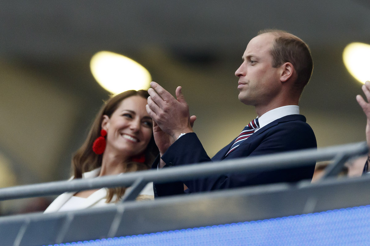 Kate Middleton and Prince William attend the Italy v England UEFA Euro 2020 Final