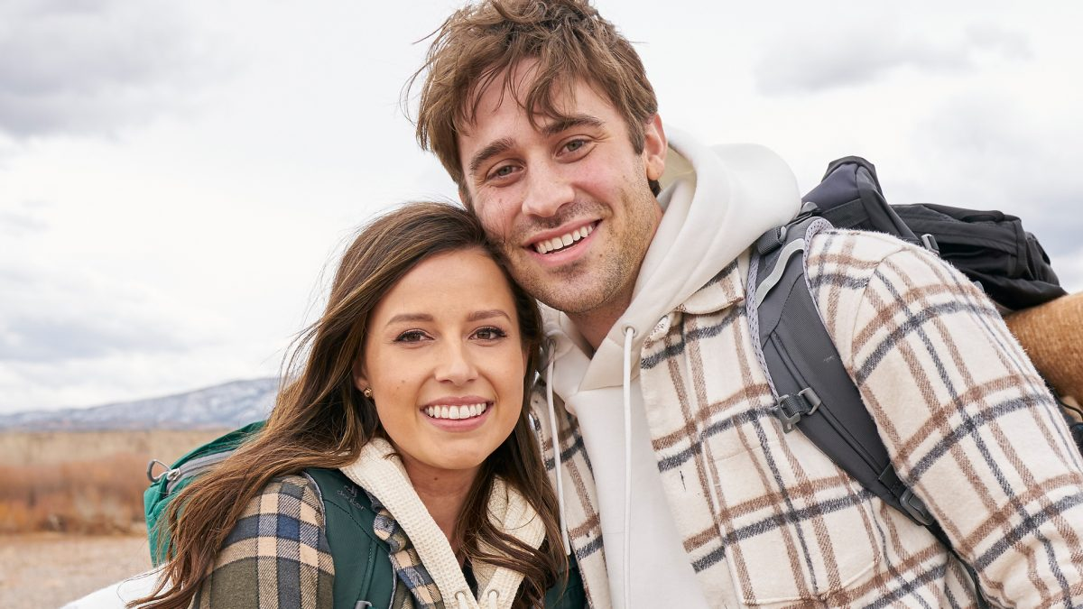 Katie Thurston and Greg Grippo pose together during their one-on-one date in 'The Bachelorette' Season 17 Episode 2