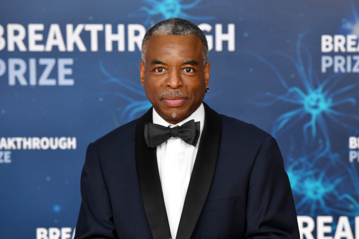 Television personality LeVar Burton in 2019 poses for a photo in a tuxedo.