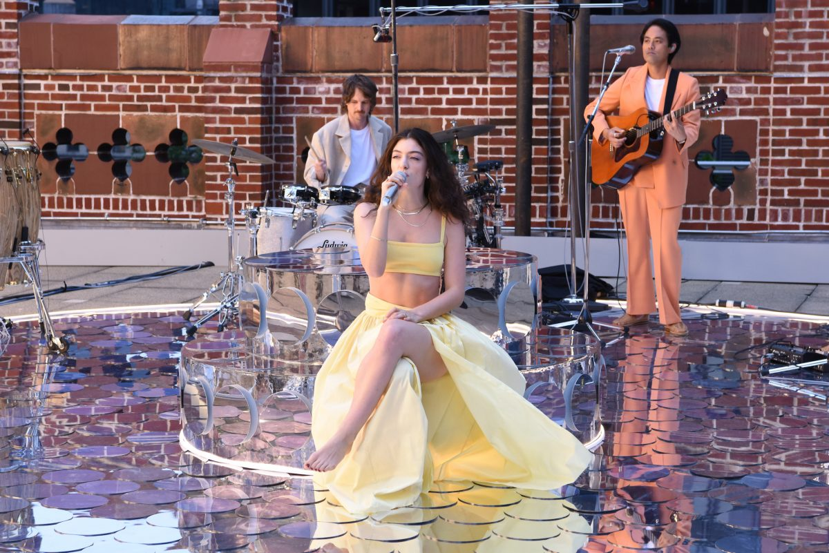 'The Late Show with Stephen Colbert' and musical guest Lorde dressed in yellow