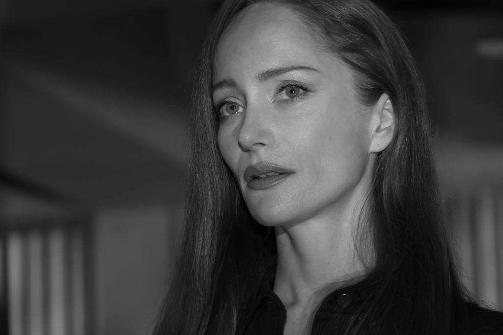 Lotte Verbeek as Katarina Rostova in a black and white closeup.