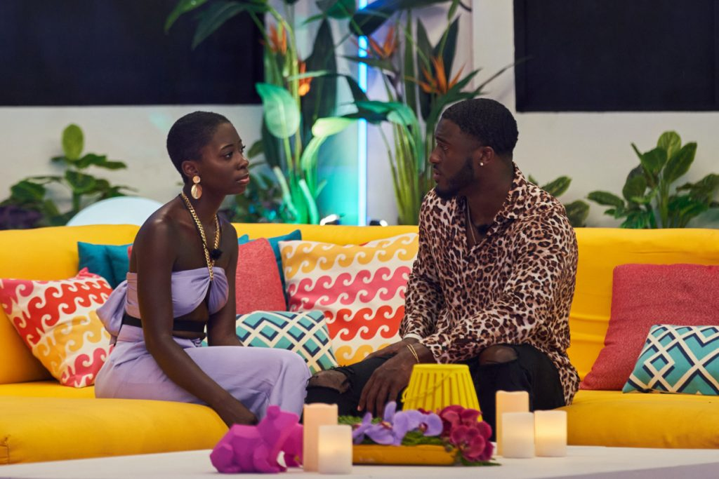 Cashay Proudfoot and Melvin Cinco Holland Jr. on 'Love Island' season 3 episode 4