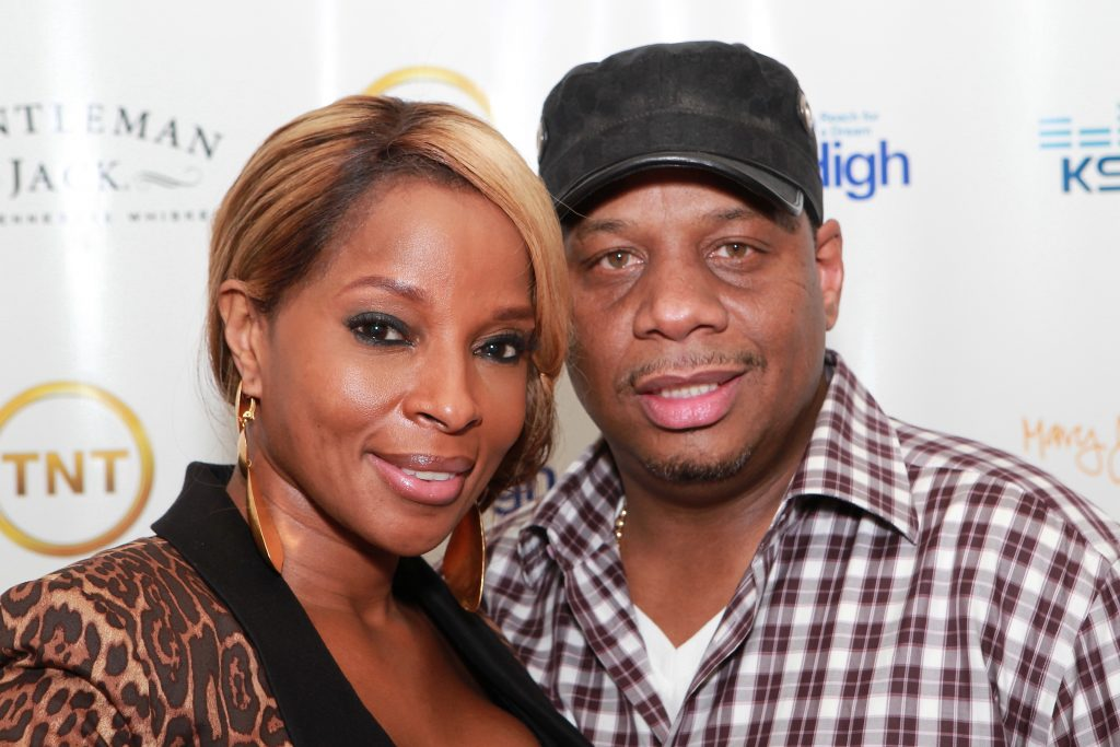 Mary J. Blige and Kendu Isaacs on the red carpet