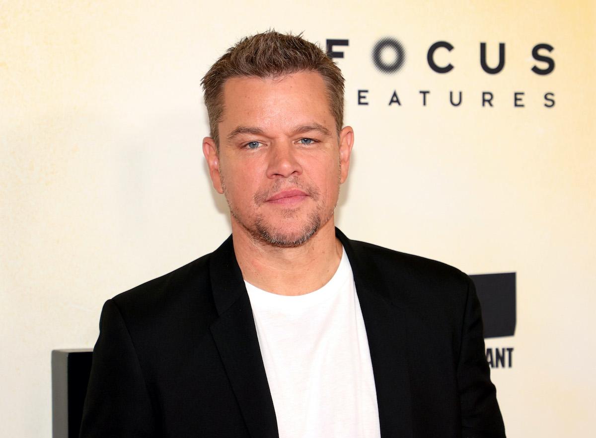 Matt Damon poses at the 'Stillwater' New York premiere