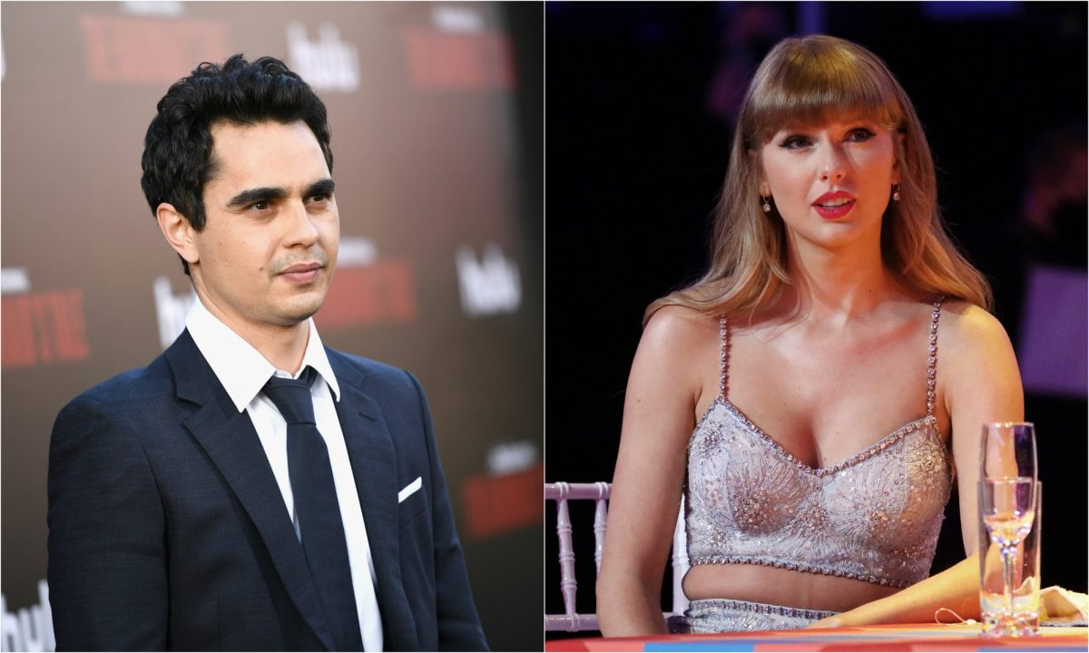 A joined photo of actor Max Minghella in 2018 and singer-songwriter Taylor Swift in 2021