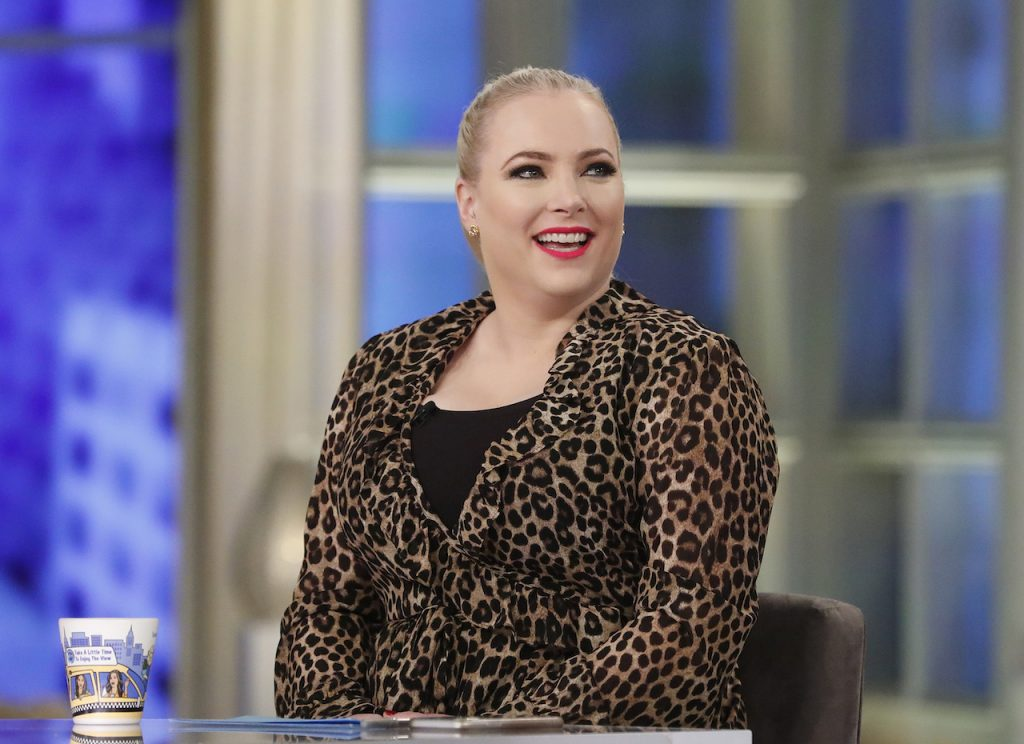Meghan McCain at the table of 'The View'