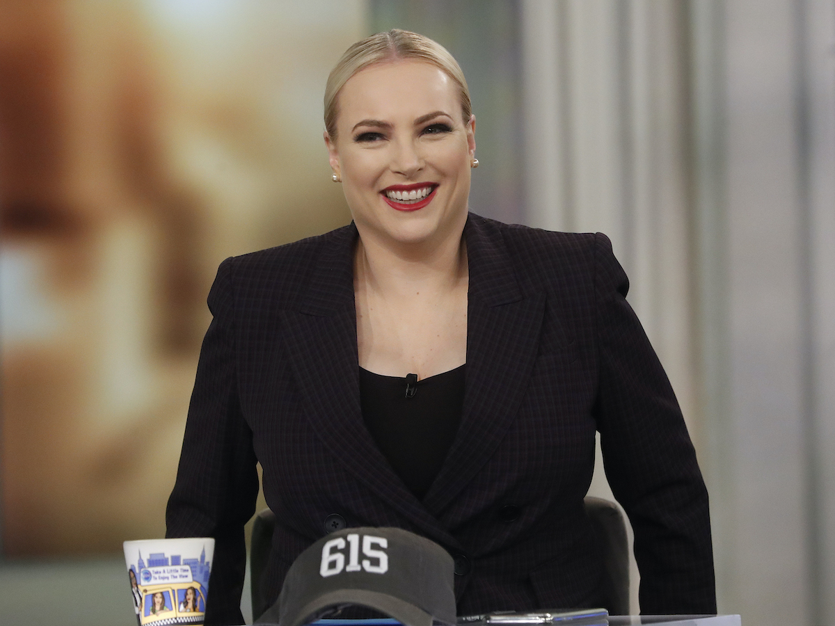 Meghan McCain in the studio at The View