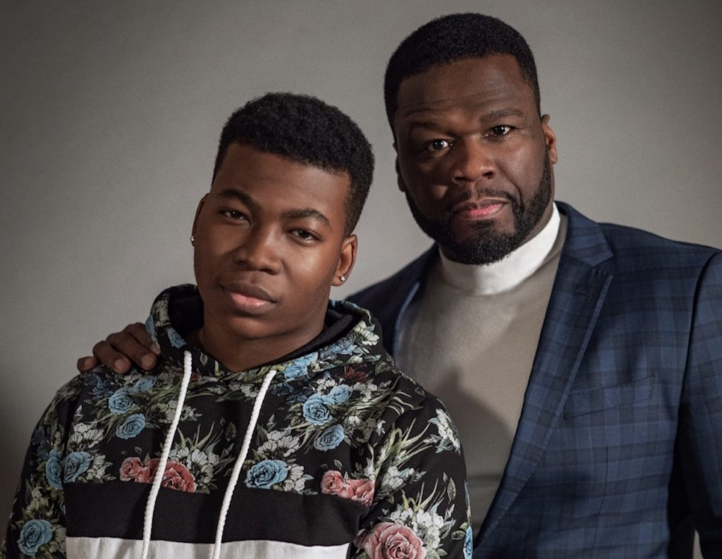 """Mekai Curtis and Curtis """"50 Cent"""" Jackson stand side by side to promote Power III: 'Raising Kanan'"""