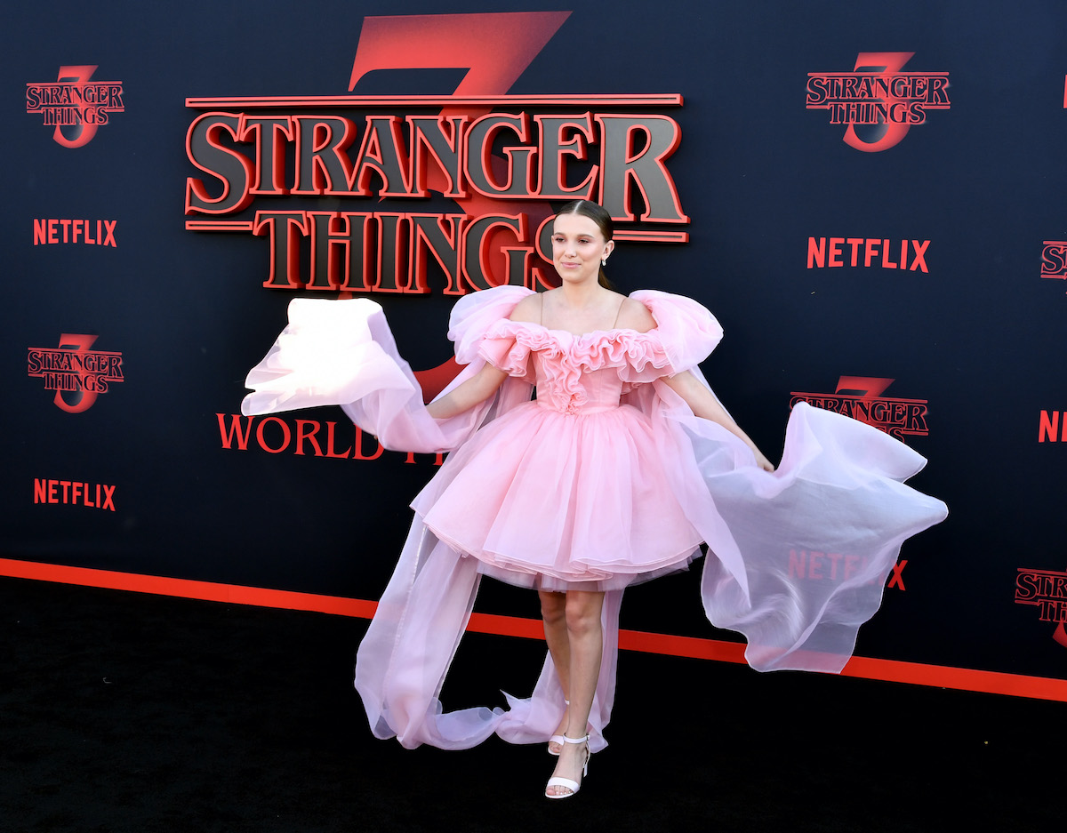 Stranger Things star Millie Bobby Brown (Eleven) arrives to the Season 3 premiere