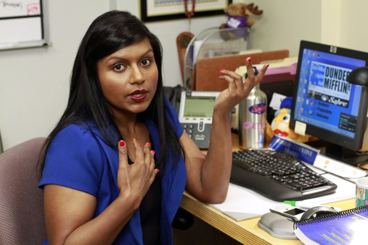 The Office star Mindy Kaling as Kelly Kapoor