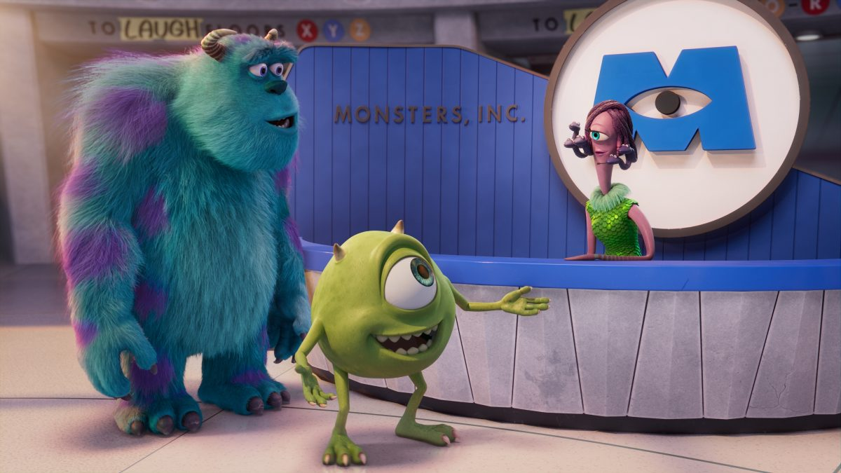 Characters Mike and Sulley in the Disney+ original series 'Monsters at Work'