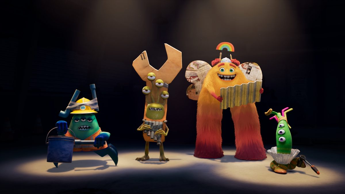 The MIFT characters from the Disney+ original series, 'Monsters at Work'