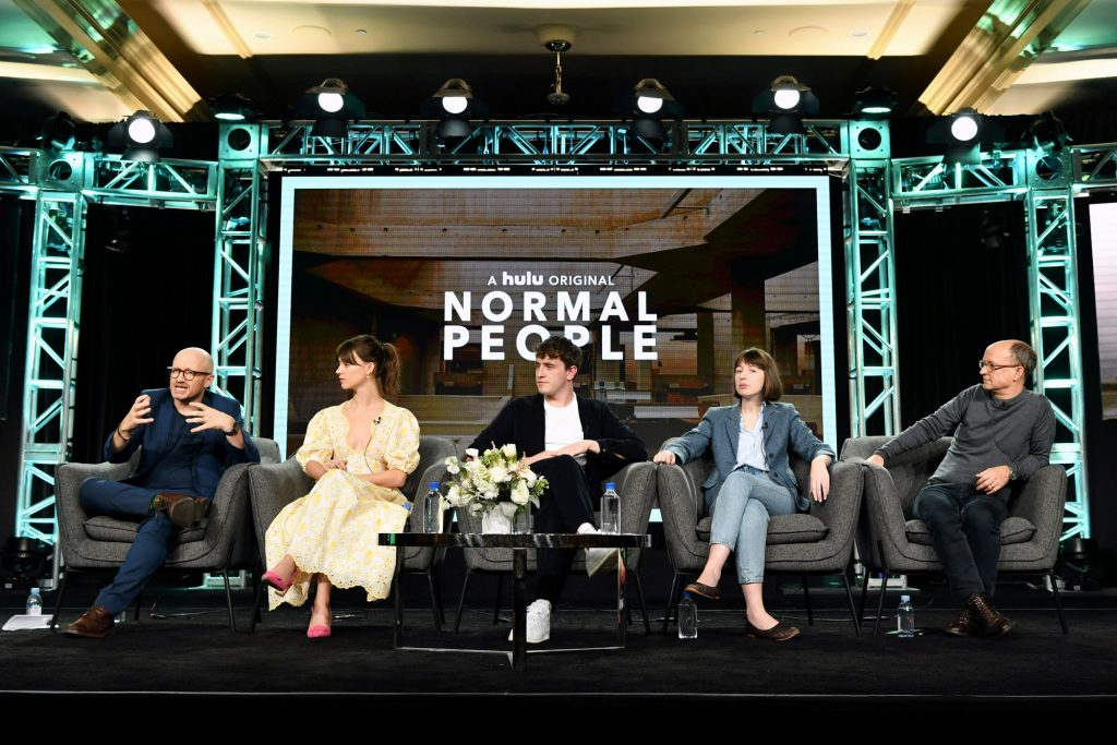 Normal People press tour stage featuring cast members