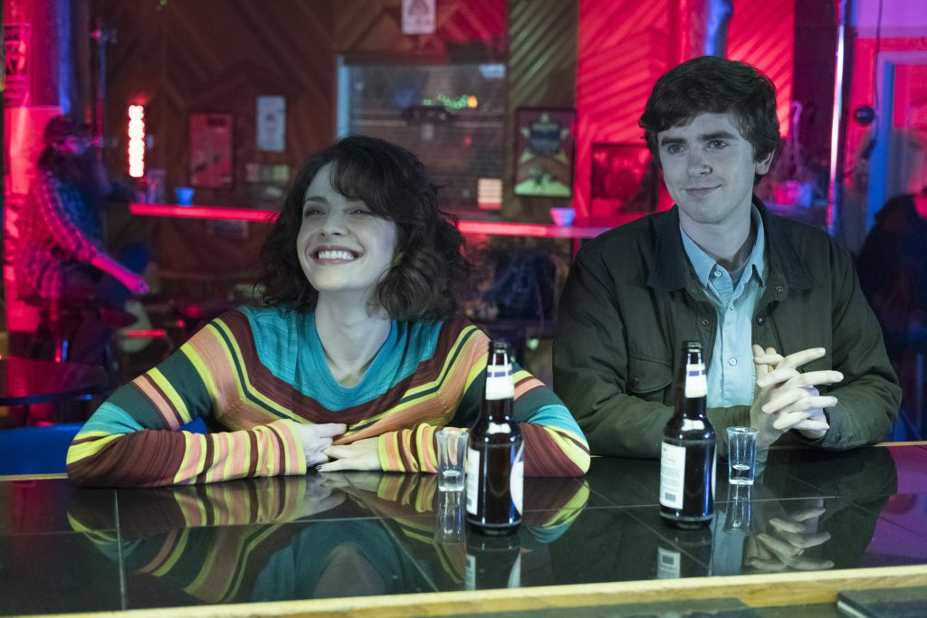 Paige Spara and Freddie Highmore on 'The Good Doctor'