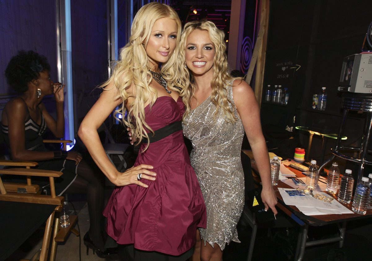 Paris Hilton and Britney Spears attending the 2008 MTV Video Music Awards