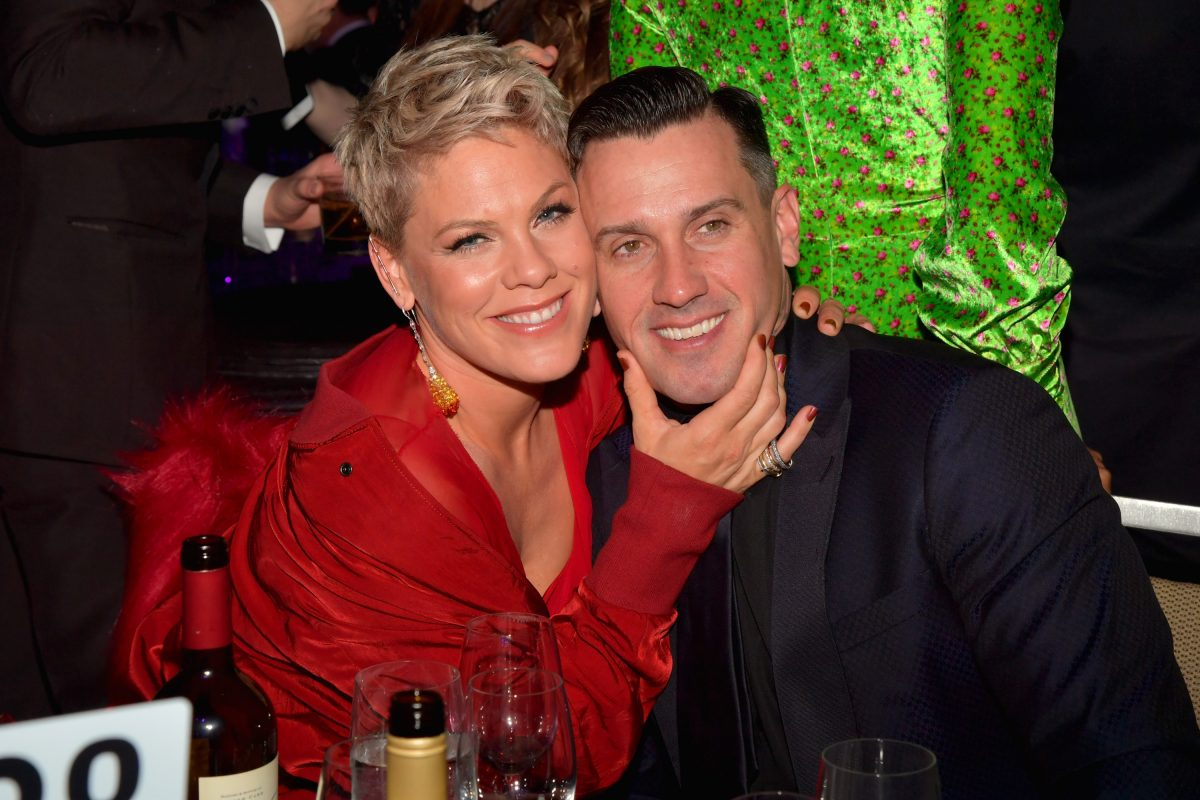 Pink and Carey Hart at Pre-GRAMMY Gala