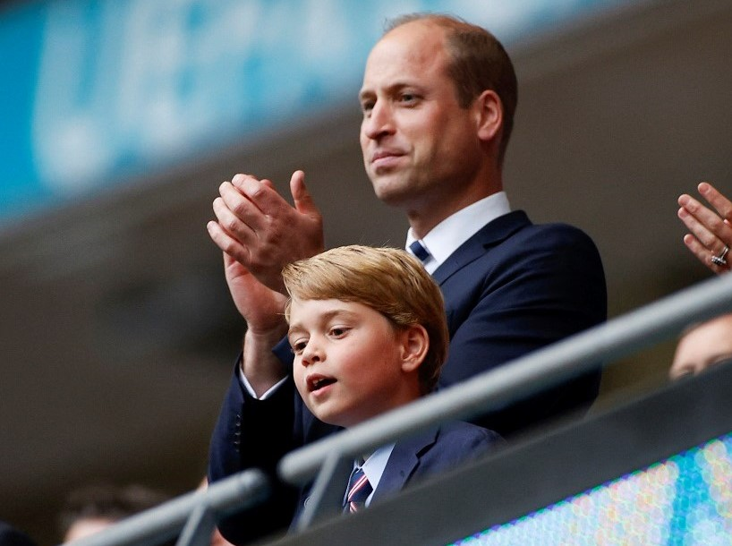 Prince William and Prince George in attendance at the UEFA EURO 2020 round of 16