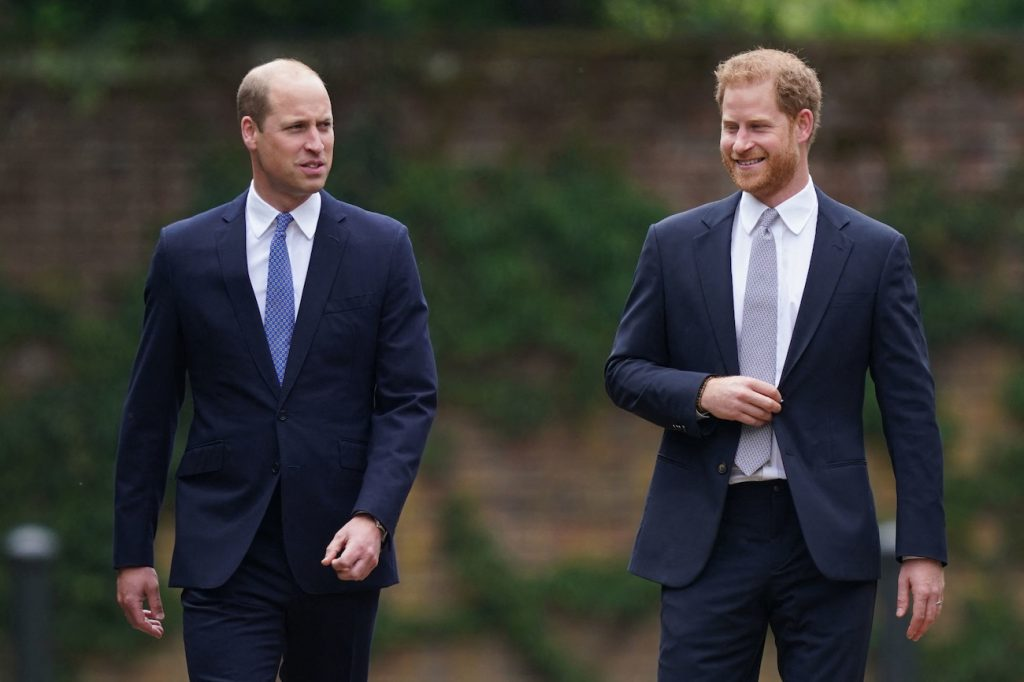Prince William and Prince Harry feud is grabbing headlines. In this image, the brothers are walking next to each other.
