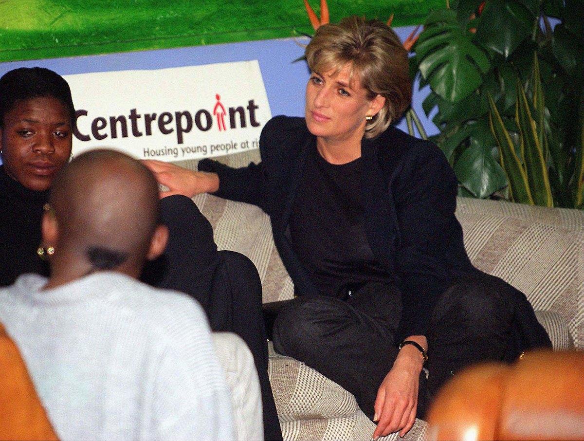 Princess Diana at Centrepoint Charity