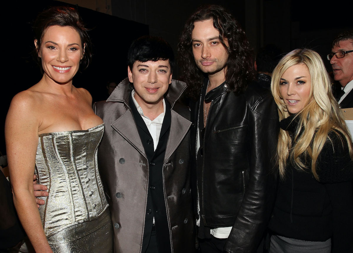 Luann de Lesseps from The Real Housewives of New York City, Malan Breton, Constantine Maroulis, and Tinsley Mortimer attend an event in 2010 in New York City