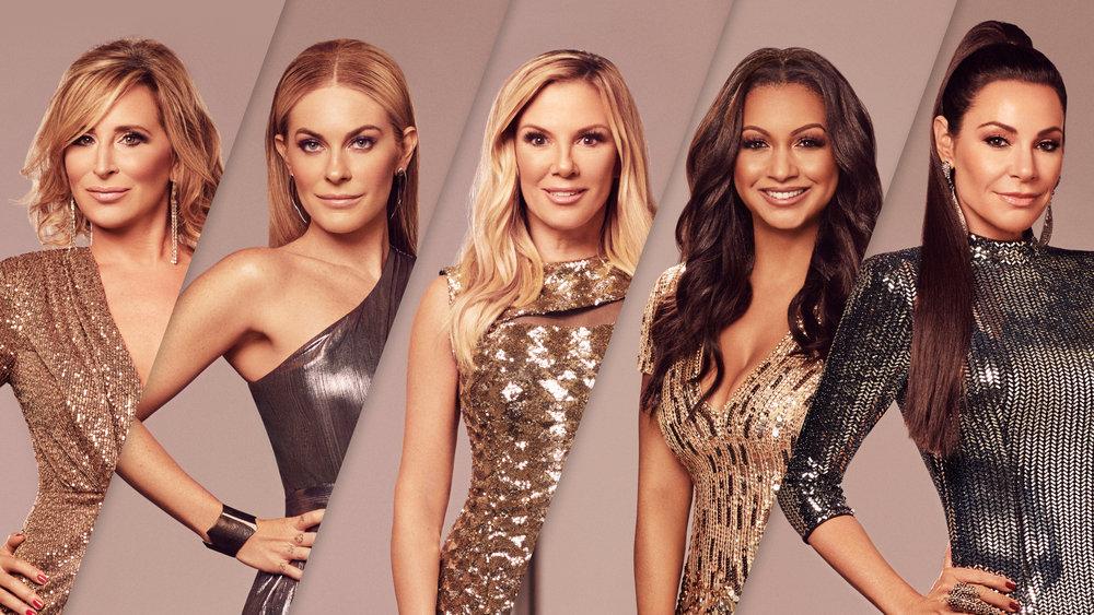The Real Housewives of New York City cast Sonja Morgan, Leah McSweeney, Ramona Singer, Eboni K. Williams, Luann de Lesseps