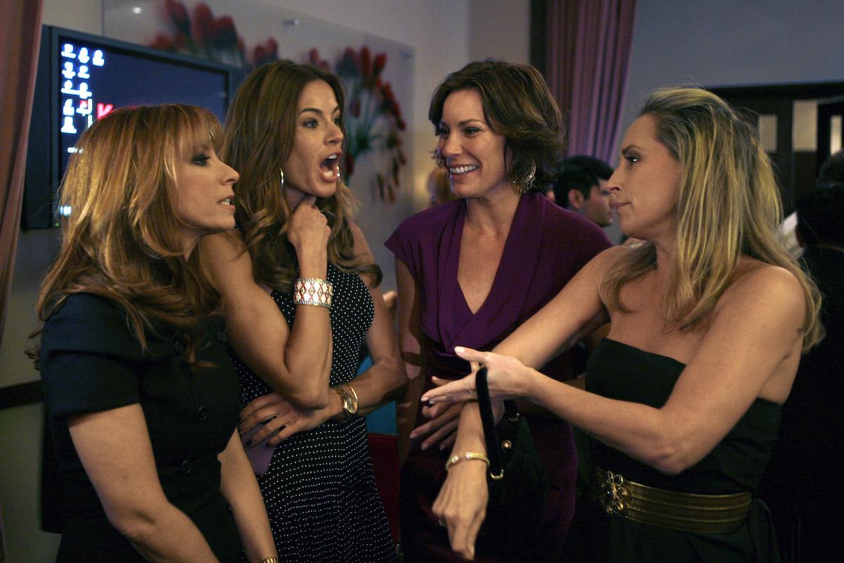 The Real Housewives of New York City's Jill Zarin, Kelly Killoren Bensimon, Luann de Lesseps, Sonja Morgan at a party