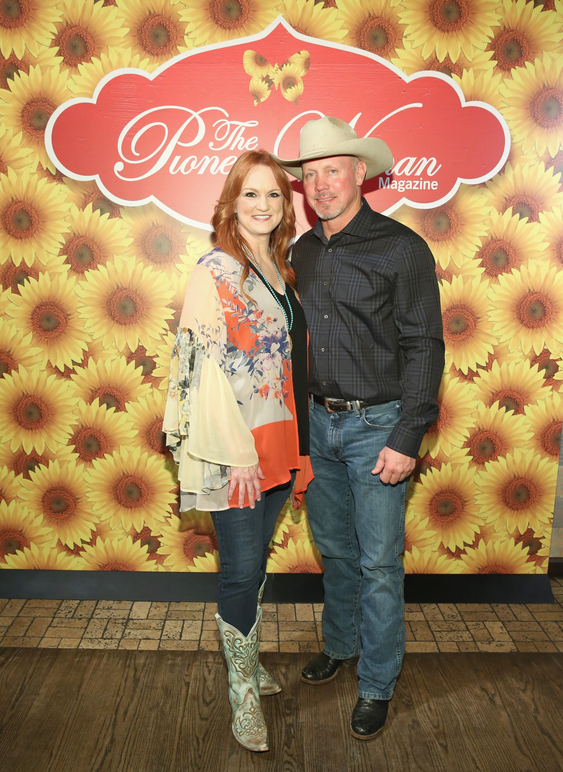 'The Pioneer Woman' Ree Drummond with her husband Ladd Drummond, 2017