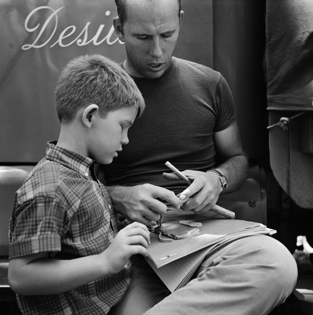 Ron Howard, left, with his father Rance on the set of 'The Andy Griffith Show'