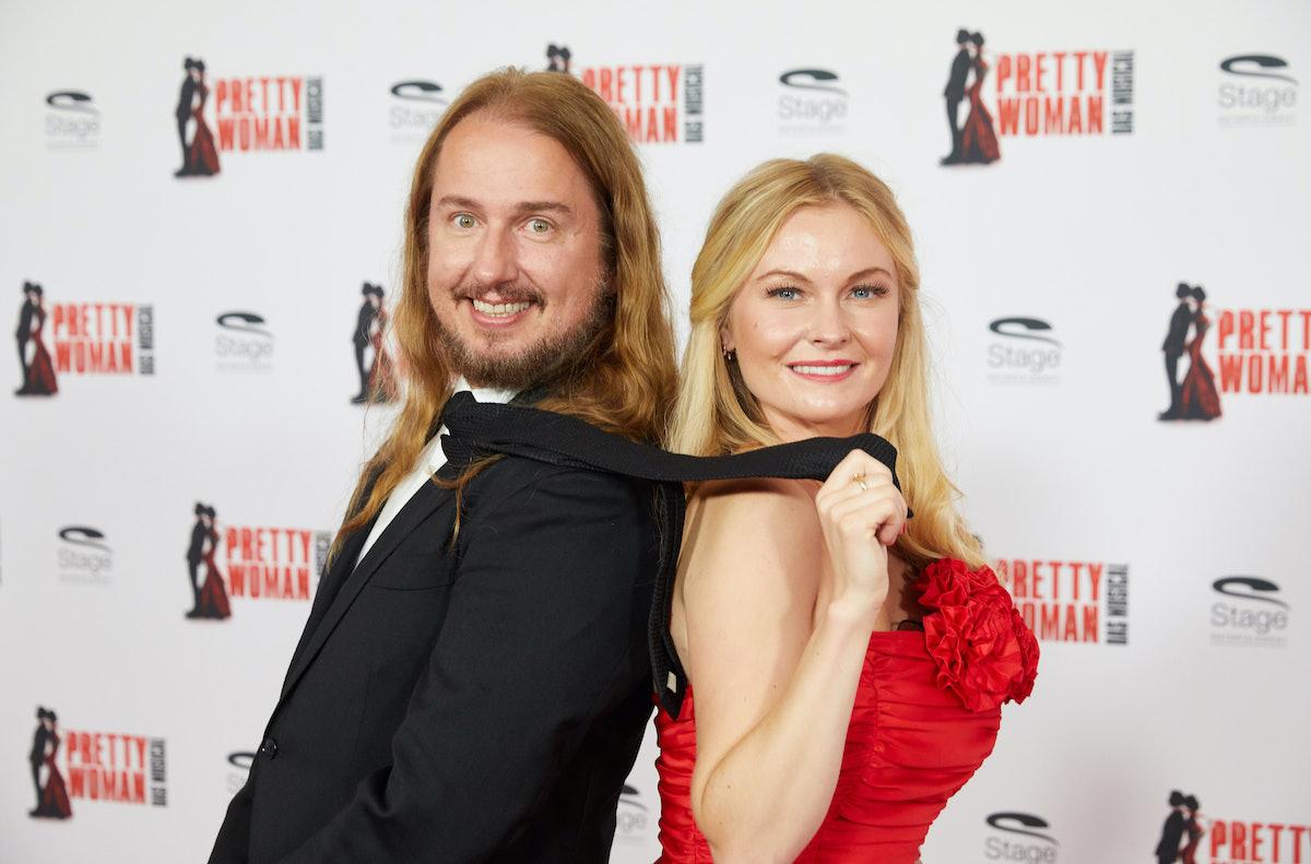 Below Deck Mediterranean charter guest Roy Kelton Orbison Jr., and his wife Asa Hallgren at the musical Pretty Woman