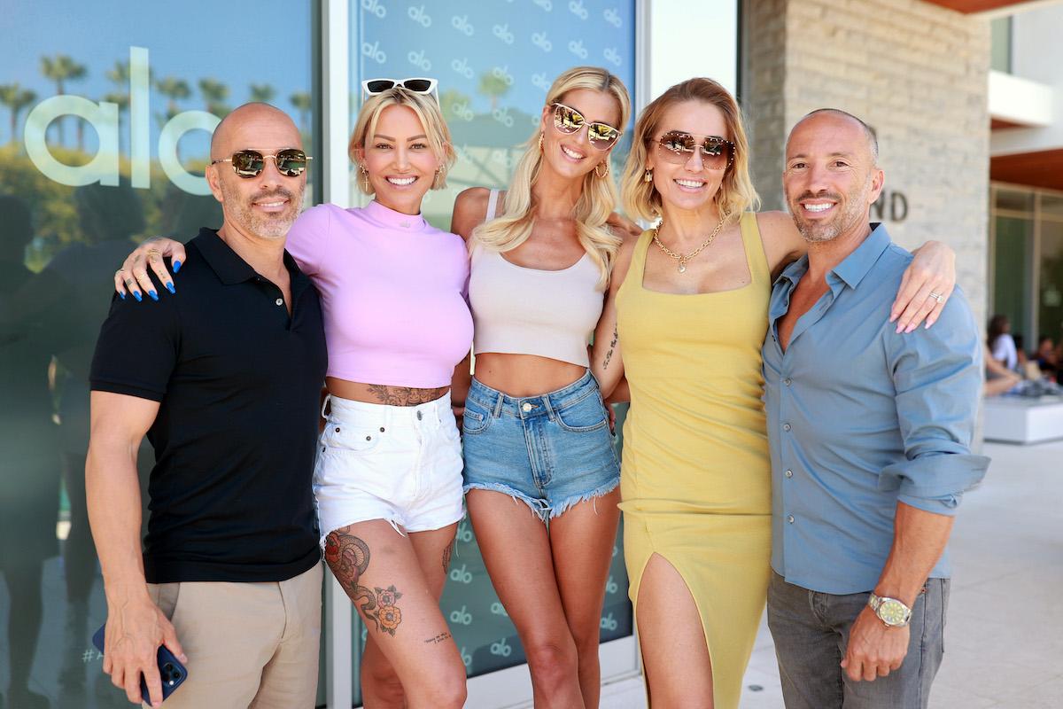 Selling Sunset's Jason Oppenheim, Tina Louise, Emma Hernan, Mary Fitzgerald, and Brett Oppenheim in June 24, 2021