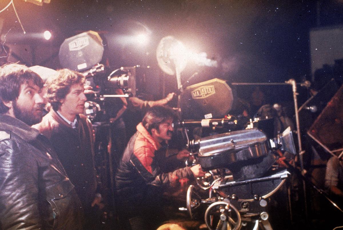 Steven Spielberg behind a camera