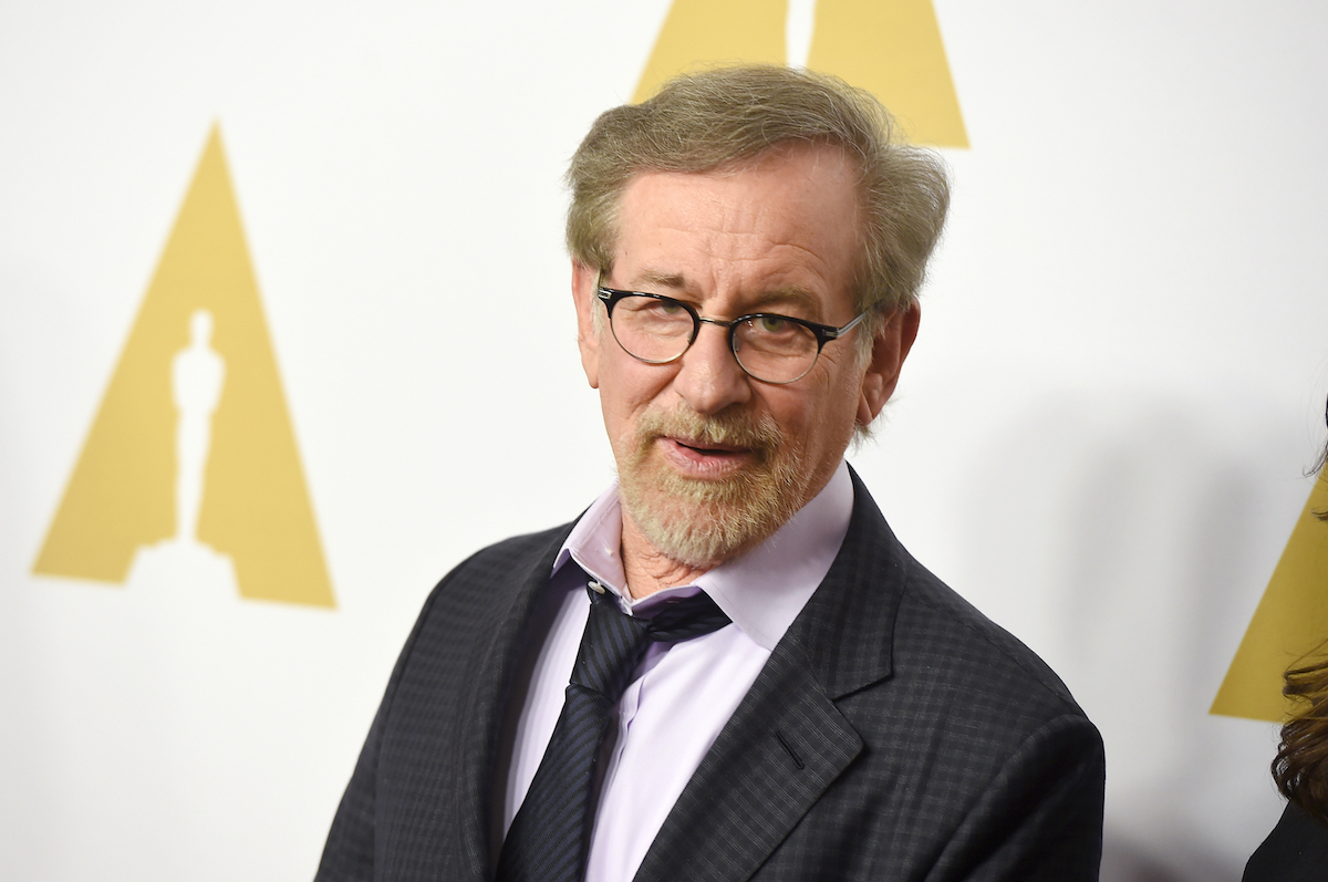 Steven Spielberg wears a suit on the red carpet at the 88th Annual Academy Awards nominee luncheon